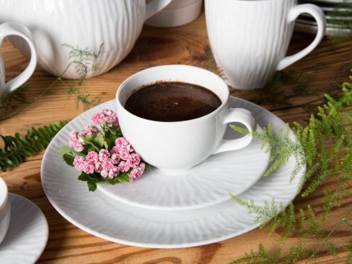 Zestaw kawowy na 6 osób porcelana MariaPaula Natura 18 elementów