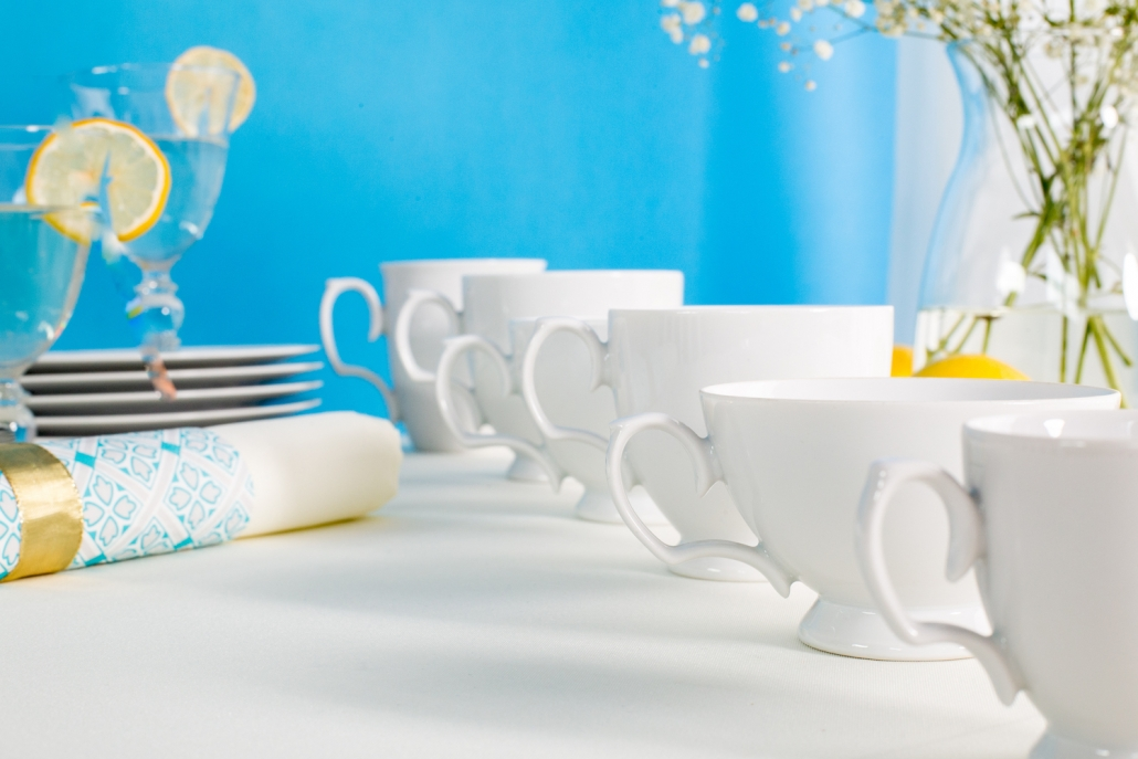 przyjęcie komunijne, dekoracje komunijne, porcelana MariaPaula Klasyka Biała