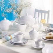 porcelana MariaPaula klasyka biała, porcelana na komunię, przyjęcie komunijne w domu