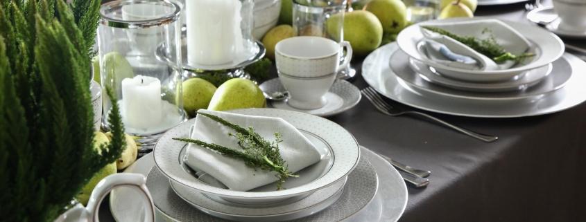porcelana MariaPaula na stole